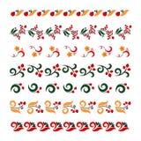 Sistema de bordado tradicional Ejemplo del vector de modelos ornamentales inconsútiles étnicos Marcos rusos tradicionales libre illustration