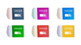 Sistema de borradores coloridos equipo de escuela Imagen de archivo libre de regalías