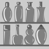 Sistema de botellas Imágenes de archivo libres de regalías