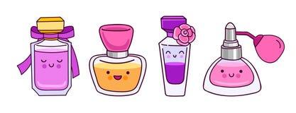 Sistema de botellas de perfume lindas, coloridas
