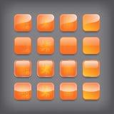Sistema de botones anaranjados en blanco ilustración del vector