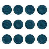 Sistema de botones azules Imagen de archivo libre de regalías