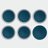 Sistema de botones azules Stock de ilustración