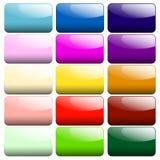 Sistema de botones brillantes stock de ilustración