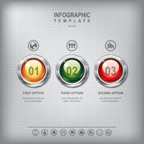 Sistema de botones coloreados brillantes Imagen de archivo libre de regalías