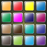 Sistema de botones coloreados del web Foto de archivo