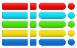 Sistema de botones coloridos en blanco de Internet Imágenes de archivo libres de regalías