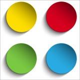 Sistema de botones de papel coloridos de la etiqueta engomada del círculo Imagen de archivo