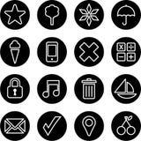 Sistema de botones del negocio Imagenes de archivo