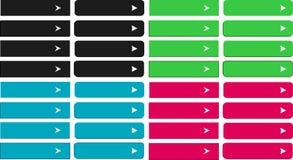 Sistema de botones del Web Fotos de archivo