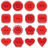 Sistema de botones en diversos diseños Fotos de archivo