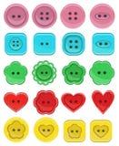 Sistema de botones en diversos diseños Fotografía de archivo