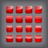 Sistema de botones rojos en blanco libre illustration