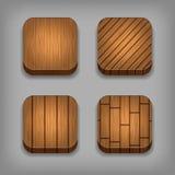 Sistema de botones texturizados madera ilustración del vector