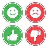 Sistema de botones verdes y rojos Vector stock de ilustración