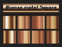 Sistema de bronce del cuadrado de la pendiente stock de ilustración