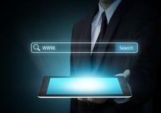 Sistema de búsqueda y concepto de Internet Foto de archivo