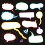 Sistema de burbujas bosquejadas del discurso Imagenes de archivo