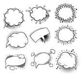Sistema de burbujas cómicas vacías Fotografía de archivo libre de regalías