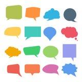 Sistema de burbujas coloridas de la cita o del discurso stock de ilustración
