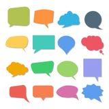 Sistema de burbujas coloridas de la cita o del discurso libre illustration