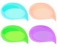Sistema de burbujas coloridas lindas del discurso stock de ilustración