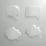 Sistema de burbujas de cristal realistas del discurso stock de ilustración