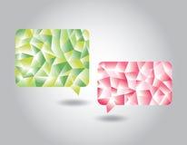 Sistema de burbujas geométricas polivinílicas bajas del discurso Imagen de archivo libre de regalías