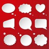 Sistema de burbujas lindas del discurso Fotografía de archivo