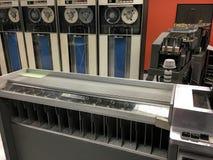 Sistema de cálculo de la tarjeta perforada de IBM del vintage Fotos de archivo libres de regalías
