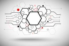 Sistema de células hexagonales Fotografía de archivo