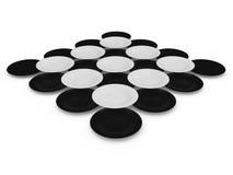 Sistema de círculos Imagen de archivo libre de regalías