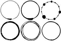 Sistema de círculos del movimiento del cepillo Imagen de archivo