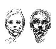 Sistema de cabezas de dibujo Foto de archivo