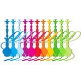 Sistema de cachimbas coloreadas Imagenes de archivo