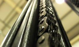 Sistema de cadena de la carretilla elevadora Foto de archivo libre de regalías