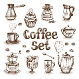 Sistema de café Imagen de archivo