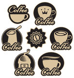 Sistema de café Fotos de archivo