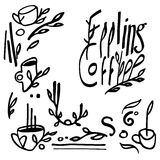 Sistema de café de la sensación Imágenes de archivo libres de regalías