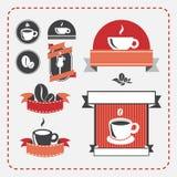 Sistema de café del vintage Fotografía de archivo