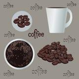 Sistema de café, gráfico, ejemplo, café express libre illustration