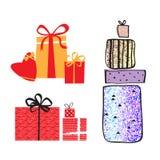 Sistema de cajas de regalo libre illustration