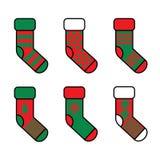 Sistema de calcetines de la Navidad libre illustration