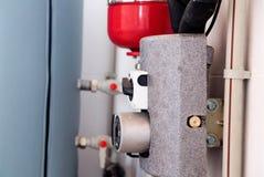 Sistema de calefacción en la casa imágenes de archivo libres de regalías