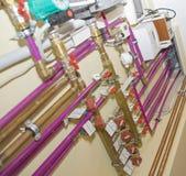 Sistema de calefacción Fotografía de archivo