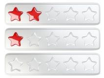 Sistema de calificación de cinco estrellas Fotos de archivo libres de regalías