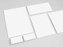 Sistema de calificar plantillas del diseño corporativo Fotos de archivo libres de regalías