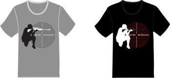 Sistema de camisetas stock de ilustración
