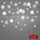 Sistema de carámbanos de la nieve en fondo transparente Ilustración del vector Foto de archivo