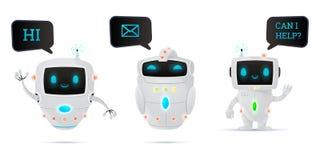 Sistema de caracteres del robot Fotos de archivo